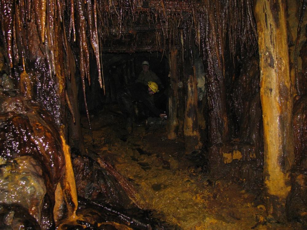 Sztolnia podczas eksploracji w roku 2010<p> <a href=''></a></p>